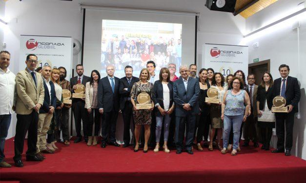Rinconada Global celebra su X aniversario reconociendo a empresas y comercios del municipio
